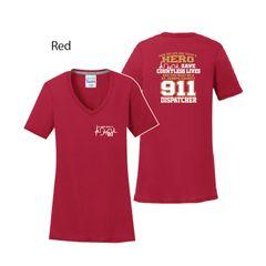 911 Dispatcher: Softstyle Ladies V-Neck