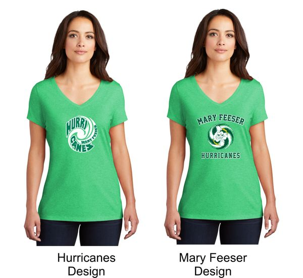 Mary Feeser Ladies V-Neck with Design Options