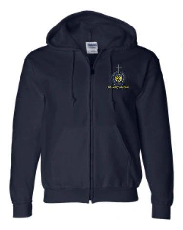 St. Mary's Full Zip Sweatshirt (Uniform Compliant)