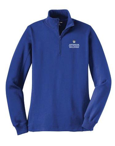 Jefferson Ladies Quarter Zip Sweatshirt