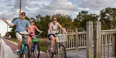 Biking the St. Marys Tabby Trail (Multi-Use Path) in St. Marys, Georgia