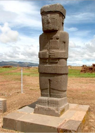 the ancient ruins of Tihuanaco, Bolivia