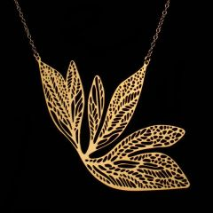 """Flight"" Necklace Gold Plated Stainless Steel"
