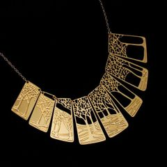 """Winter""- Gold Plated Stainless Steel Necklace"