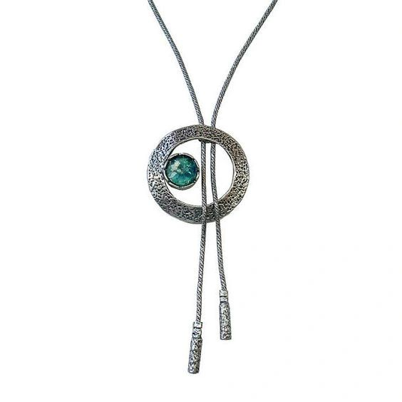 Ancient Roman Glass Necklace with Lariat Design