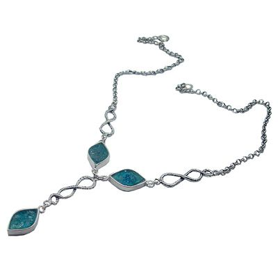 Ancient Roman Glass Necklace with Petal Shaped Design