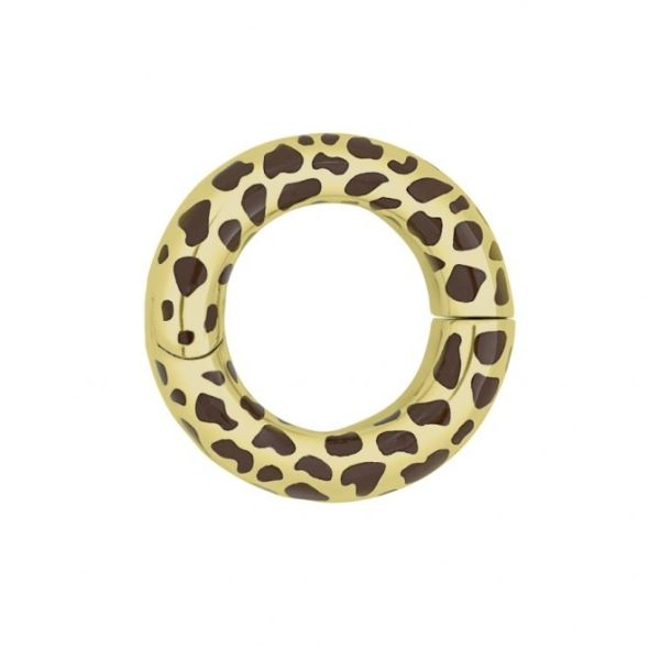 Circle of Love Collection-Cheetah Pendant in Gold Plate