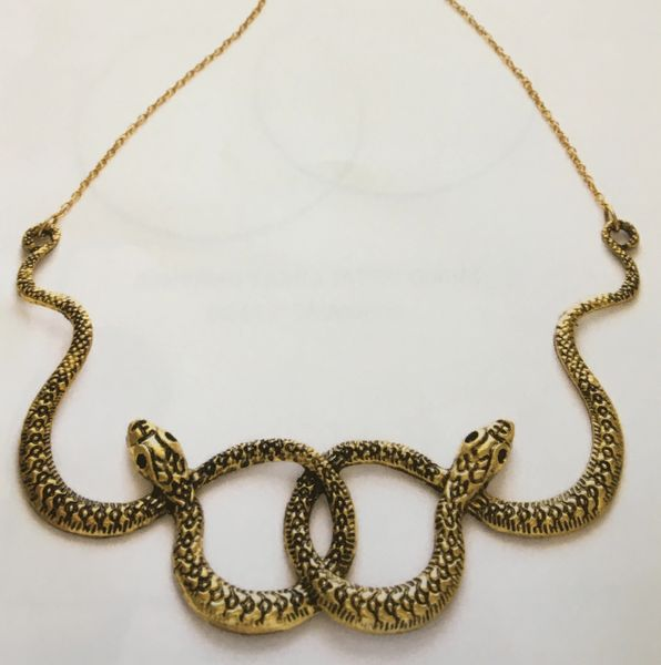 Brass Serpent Necklace