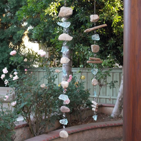 Recycled Glass and Stone Rain Chain