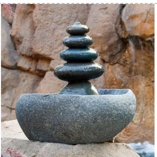 Five Tier Natural Stone Fountain