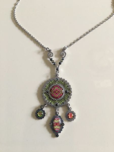 Small Disk Necklace by Yoolie