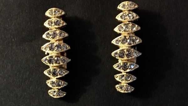 18K Gold Plated Post Earrings with Swarovski Crystals