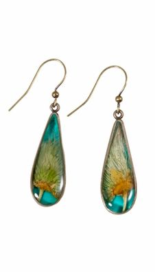 Apache Plume Earrings on Turquoise