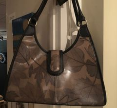 """Roxanne "" Bag by Leaf Leather in Grey"
