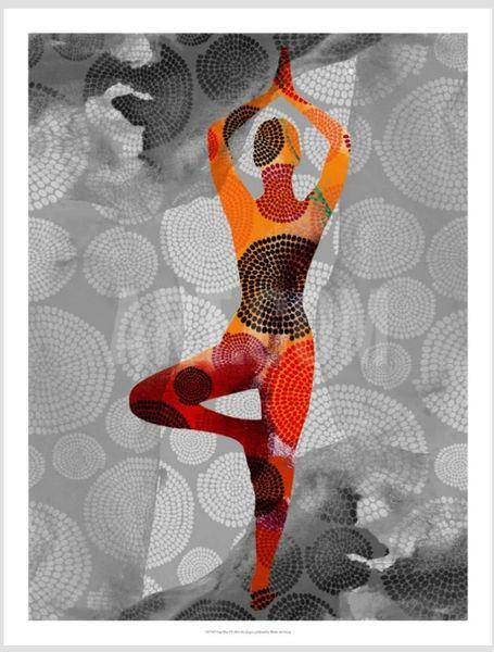 "Yoga Pose I Giclee 24""x18"""