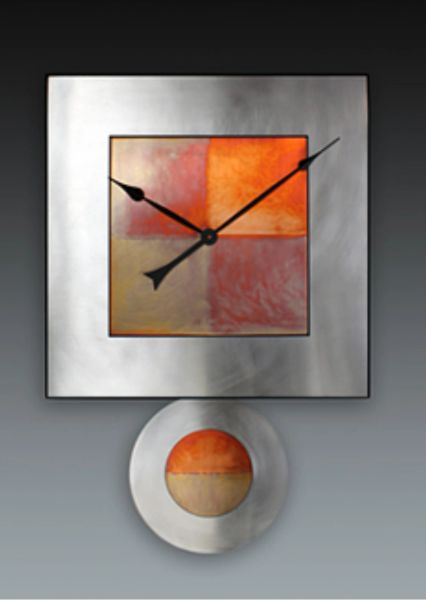 Steel and Copper Clock by Leonie