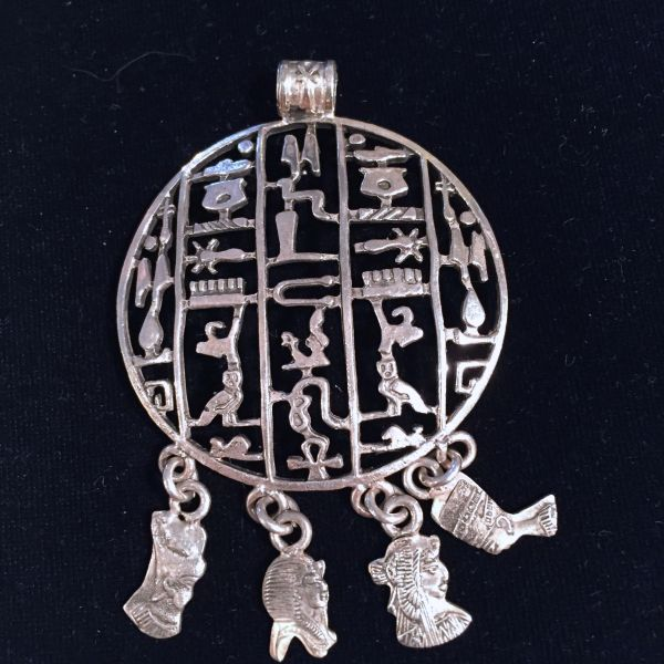 Silver Hieroglyphics Pendant