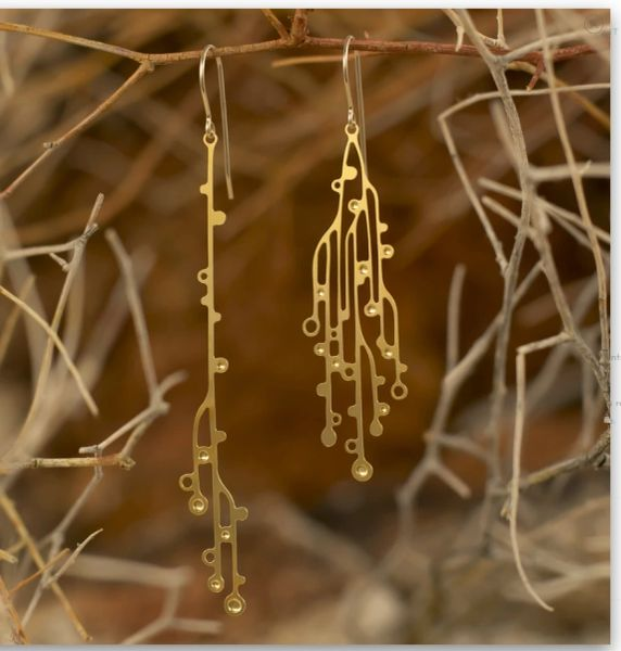 "NEW! ""Cascade"" Earrings - Gold Plated Stainless Steel"