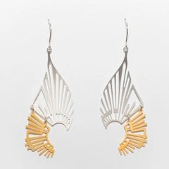 """Radiate"" I-Mixed Gold and Silver Plated Earrings"