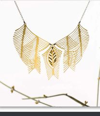 NEW! Sudanese Tribute Necklace in Gold Plated Stainless Steel