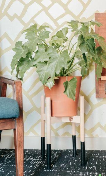 Handmade Wooden Plant Pedestals