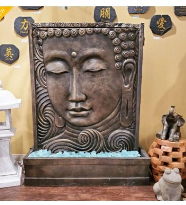 Buddha Face Panel Water Fountain