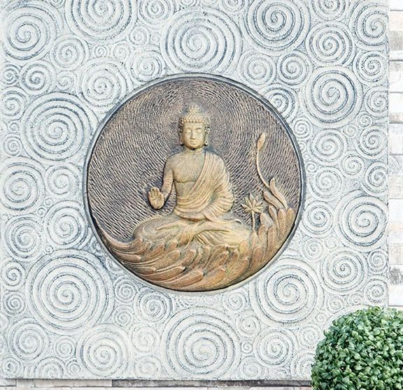 Buddha On Lotus Wall Art