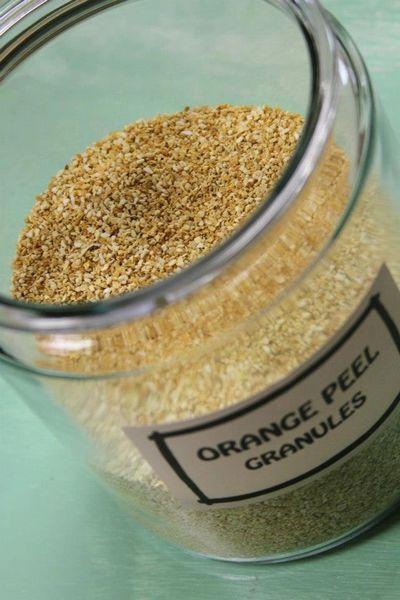 Orange Peel Granules - by the ounce