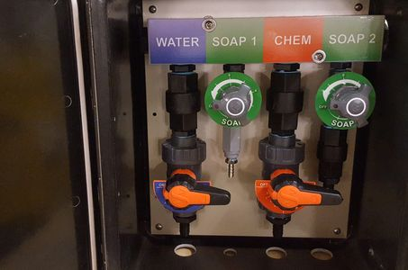 soft wash proportioner, blend 100, soft wash mixing valves, hydro-mixer