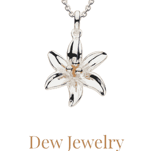 Dew jewelry available from Eagle and Pearl Jewelers.
