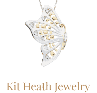 Kit Heath Jewelry available from Eagle and Pearl Jewelers.