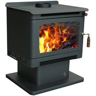 ecomaxx ringer freestanding fireplace in black