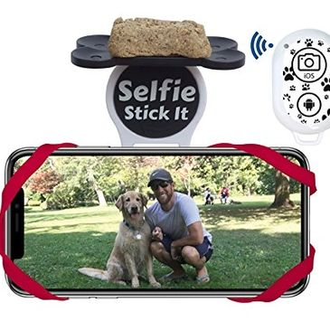 Trendy pet gifts at a great price!  Holiday sales up to 50% off.  Dog selfie.