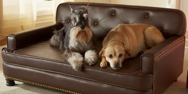 Shop Black Friday.  Fancy dog furniture.  Dog sofas, dog bowls, and more!  Gift ideas for the dog en