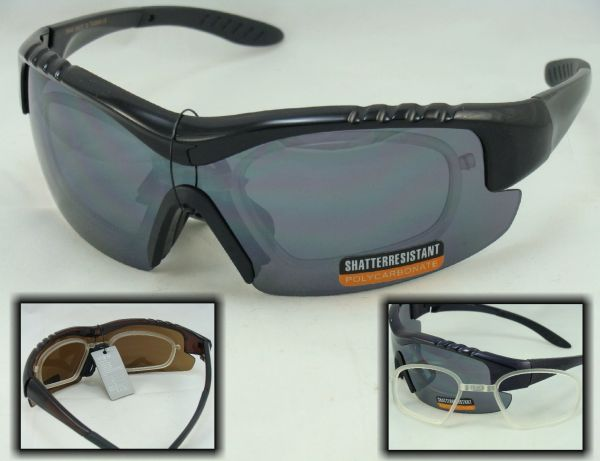 SPORTS HALF FRAME SUNGLASSES WITH RX ADAPTER #55648