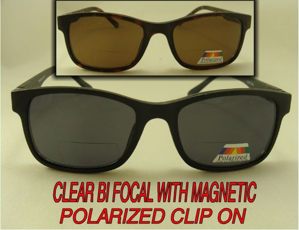 CLEAR BI-FOCAL WITH MAGNETIC POLARIZED CLIP ON #CP8946PLBF