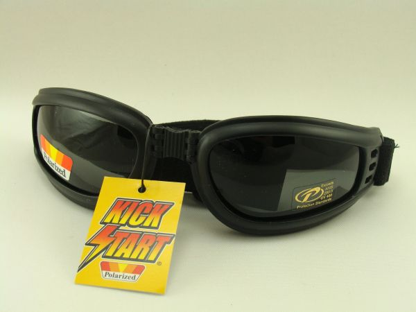 POLARIZED FOLDING MOTORCYCLE GOGGLES PACIFIC COAST KICKSTART NOMAD