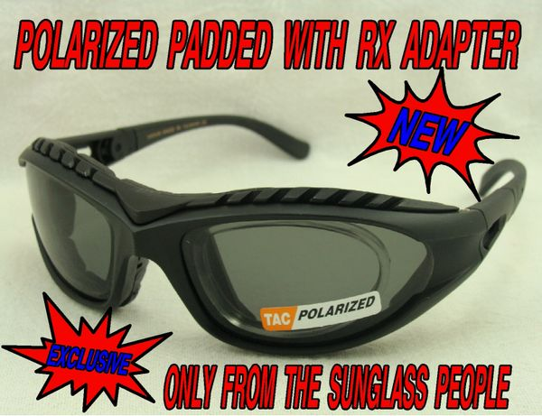 POLARIZED PADDED SUNGLASSES with RX ADAPTER/INSERT #540548P