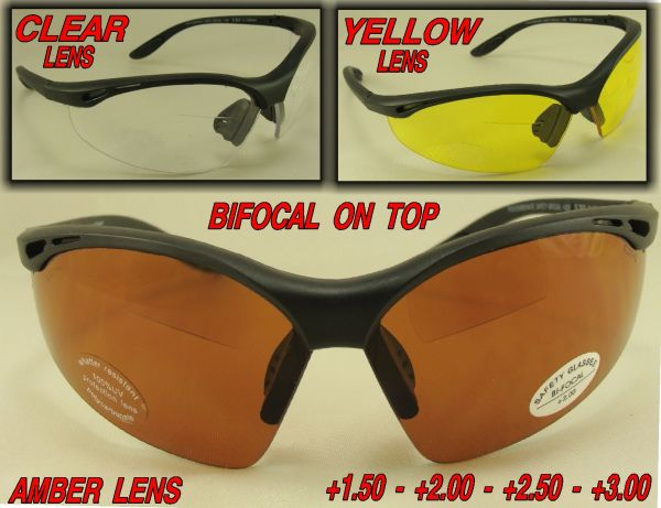 OVERHEAD BI-FOCAL ON TOP Z87 SAFETY LENS GLASSES # SR206-1