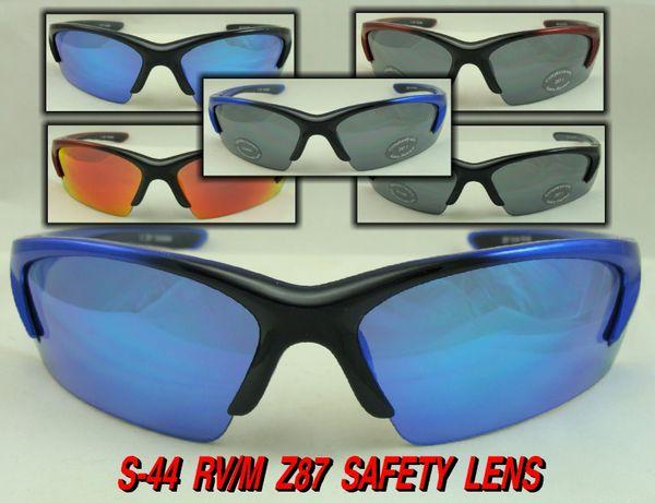Z87 SAFETY LENS SUNGLASSES # S-44RVM