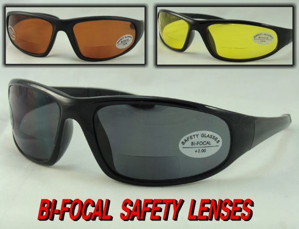 Z87 SAFETY BI-FOCAL SUNGLASSES # SR204BF