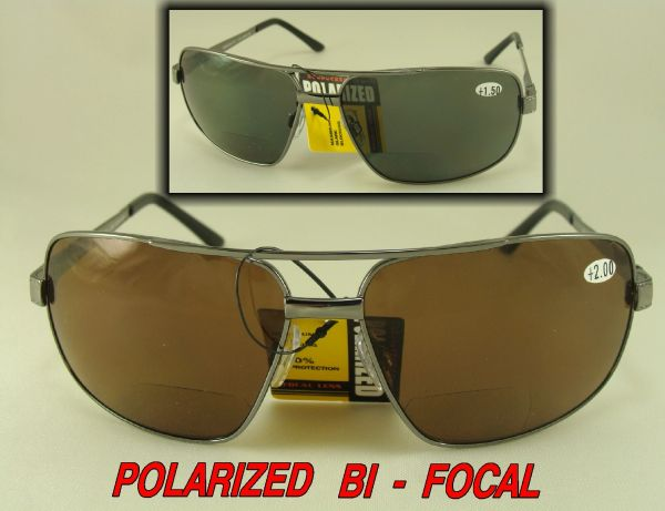 POLARIZED BI-FOCAL SUNGLASSES with HARD CASE #M58852BF