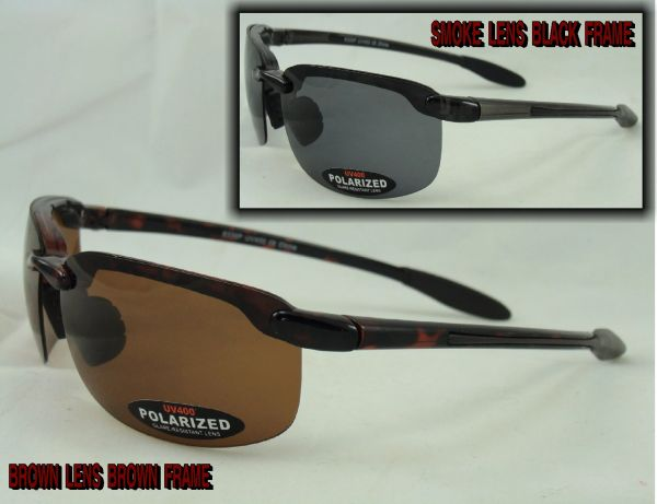 POLARIZED HALF FRAME SUNGLASSES 8339P