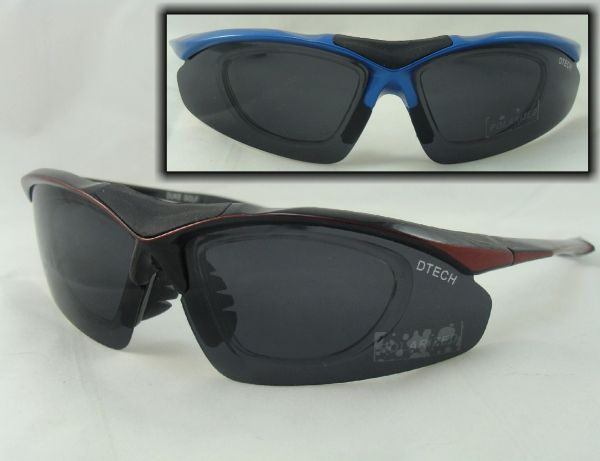 POLARIZED SUNGLASSES WITH RX ADAPTER D-TECH $29.99