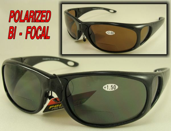 POLARIZED BI-FOCAL SUNGLASSES with hard case #PC44026BF