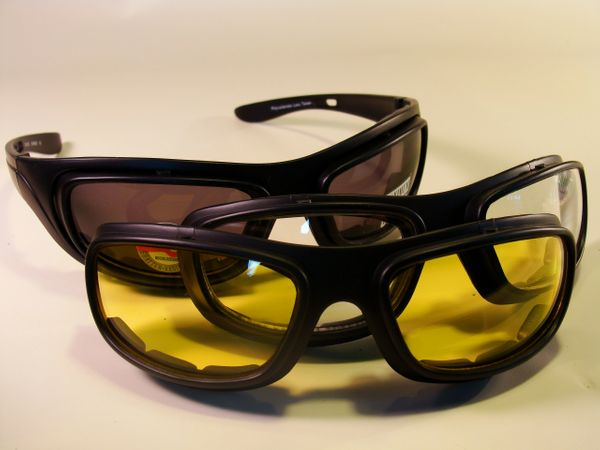 PADDED RIDING GLASSES INTERCHANGEABLE LENSES #BC5