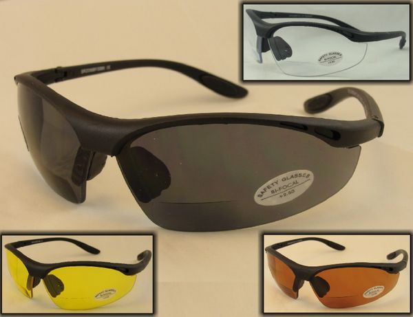 Z87 SAFETY BI-FOCAL SUNGLASSES # SR206BF