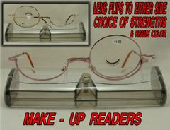 EYE MAKEUP READING GLASSES FLIPS TO EITHER SIDE #R257MU