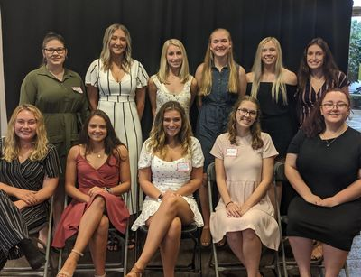 The Lincoln-way Area Business Women's Organization scholarship recipients