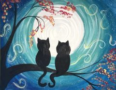 """Moonlight Cats"" Wed - Oct 16 